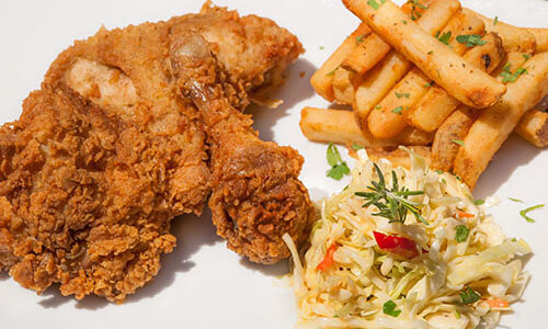 3 piece fried chicken dinner special