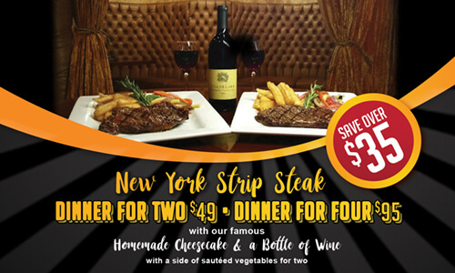 steak dinner for 2 special
